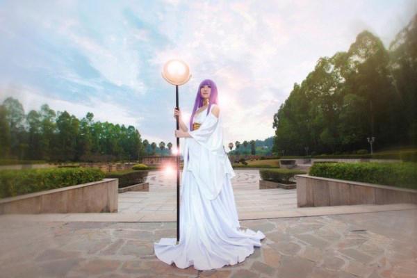 《圣斗士星矢》雅典娜COS 逆天巨乳太诱惑-第11张图片-梦月快巴