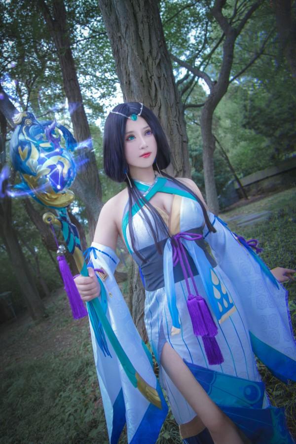阴阳师手游八百比丘尼cosplay-第3张图片-梦月快巴